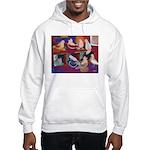 Impressionist Swallows Hooded Sweatshirt