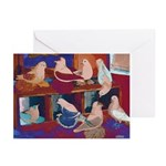 Impressionist Swallows Greeting Cards (Pk of 10)