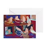Impressionist Swallows Greeting Card