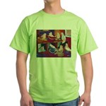 Impressionist Swallows Green T-Shirt