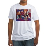 Impressionist Swallows Fitted T-Shirt