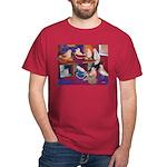 Impressionist Swallows Dark T-Shirt