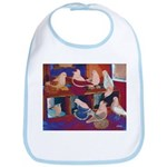 Impressionist Swallows Bib