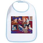 Impressionist Swallows Bib