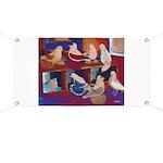 Impressionist Swallows Banner