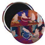 "Impressionist Swallows 2.25"" Magnet (10 pack)"