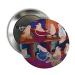 "Impressionist Swallows 2.25"" Button (100 pack"