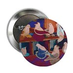 "Impressionist Swallows 2.25"" Button"