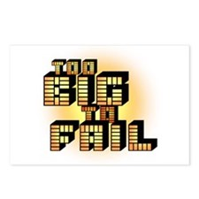 Too Big To Fail Postcards (Package of 8)