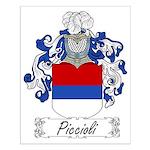 Piccioli Family Crest Small Poster