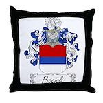 Piccioli Family Crest Throw Pillow