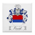 Piccioli Family Crest Tile Coaster