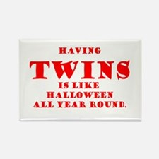Twins Halloween All Year Round Rectangle Magnet