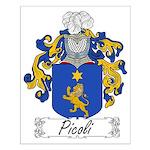 Picoli Family Crest Small Poster