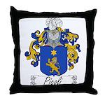 Picoli Family Crest Throw Pillow