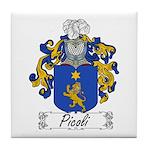 Picoli Family Crest Tile Coaster
