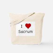 I Heart Sacrum Tote Bag