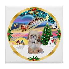 XmasMagic/Shih Tzu Tile Coaster