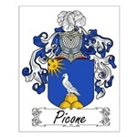 Picone Family Crest Small Poster