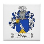 Picone Family Crest Tile Coaster