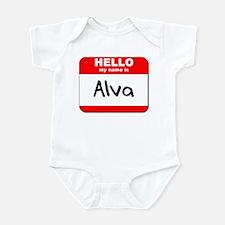 Hello my name is Alva Infant Bodysuit