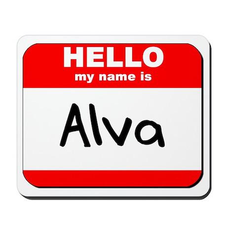 Hello my name is Alva Mousepad