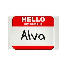 Hello my name is Alva Rectangle Magnet