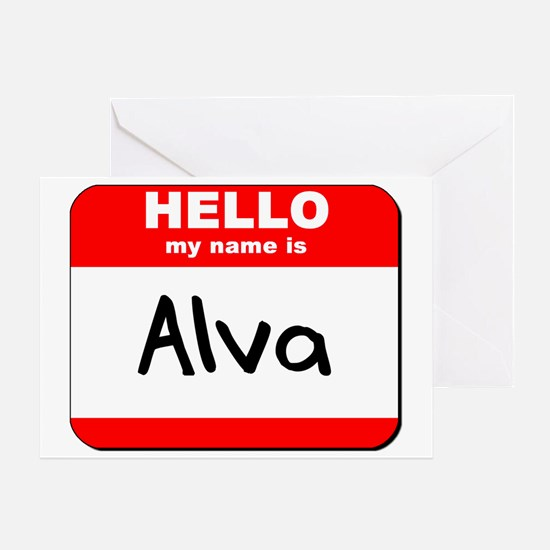Hello my name is Alva Greeting Card