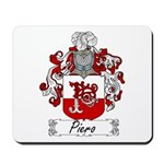 Piero Family Crest Mousepad
