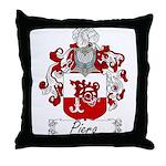 Piero Family Crest Throw Pillow