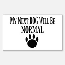 Next Dog Normal Rectangle Decal
