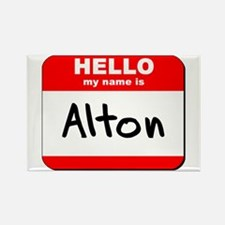 Hello my name is Alton Rectangle Magnet