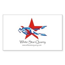 White Star Quarry Rectangle Decal