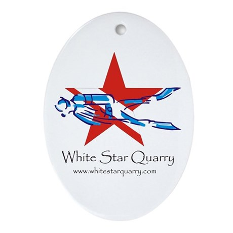 White Star Quarry Oval Ornament