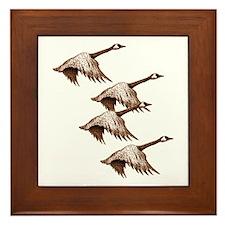 Canada Geese Flying Framed Tile