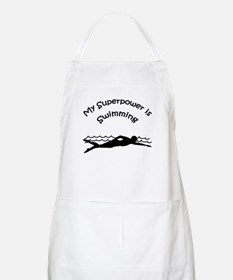 My Superpower is Swimming BBQ Apron