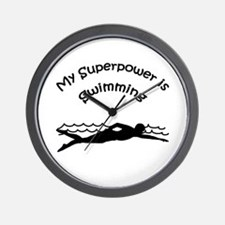 My Superpower is Swimming Wall Clock