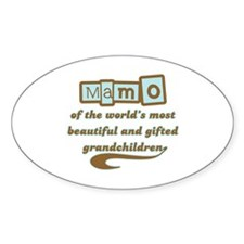 Mamo of Gifted Grandchildren Oval Decal