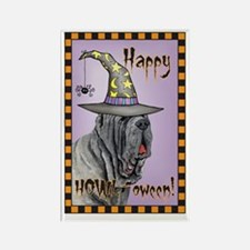 Halloween Mastino Rectangle Magnet