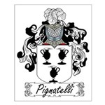 Pignatelli Family Crest Small Poster