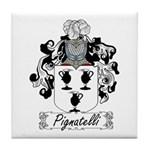 Pignatelli Family Crest Tile Coaster