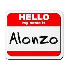 Hello my name is Alonzo Mousepad