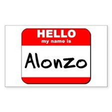 Hello my name is Alonzo Rectangle Decal