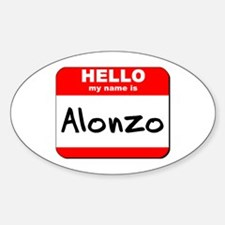 Hello my name is Alonzo Oval Decal