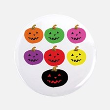 """Colorful Pumpkins 3.5"""" Button"""
