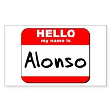 Hello my name is Alonso Rectangle Decal