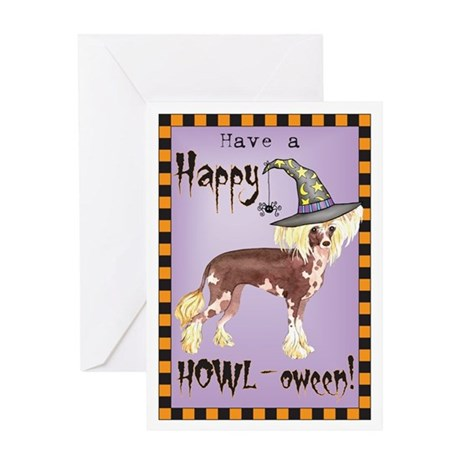 Halloween Chinese Crested Greeting Card