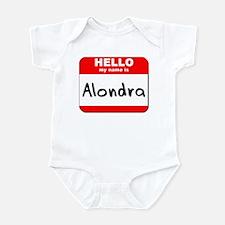 Hello my name is Alondra Infant Bodysuit