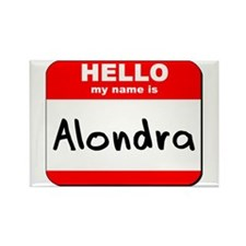 Hello my name is Alondra Rectangle Magnet