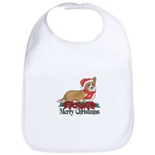 Poinsettia Welsh Corgi Bib